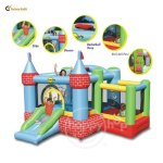 Happy Hop 9112 Castle Bouncer with Farmyard  Ballpit ( Harga : Rp 5.850.000,- )