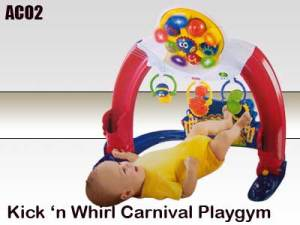 Fisher Price - Kick n' Whirl Carnival Playgym