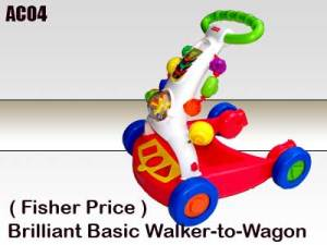 Fisher Price - Brilliant Basic Walker to Wagon