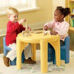 Little Tikes Table and Chairs Set (Yellow n Blue) Harga : Rp 1.175.000,-