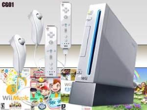 Nintendo Wii dengan 2 set WiiMote dan Nunchuk